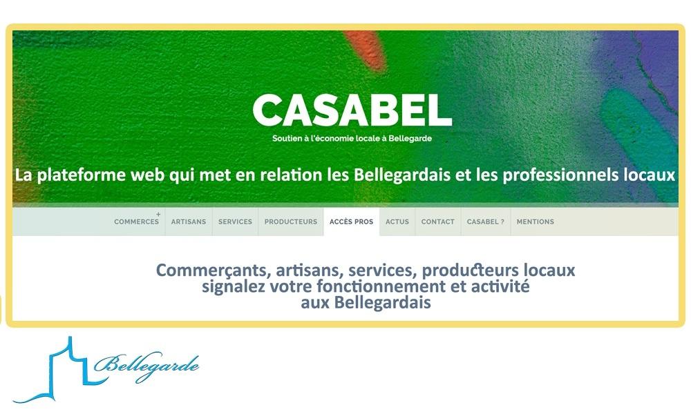CASABEL : la page web locale qui relie les professionnels locaux aux Bellegardais durant le confinement