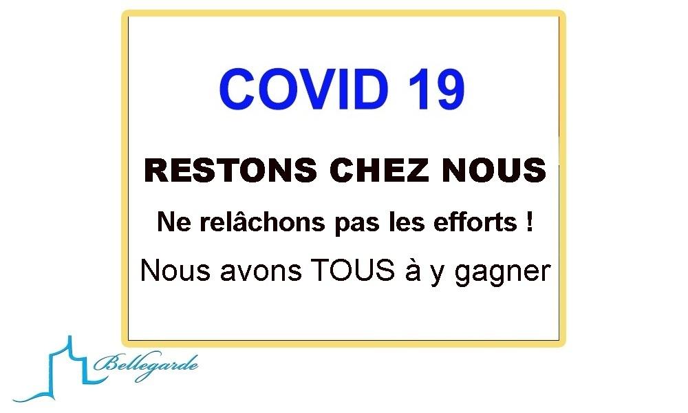 COVID19 Ne relâchons pas les efforts