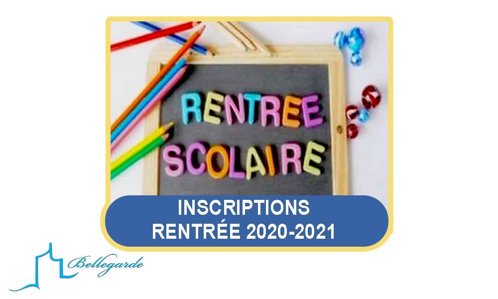 Inscriptions écoles publiques rentrée 2020-2021