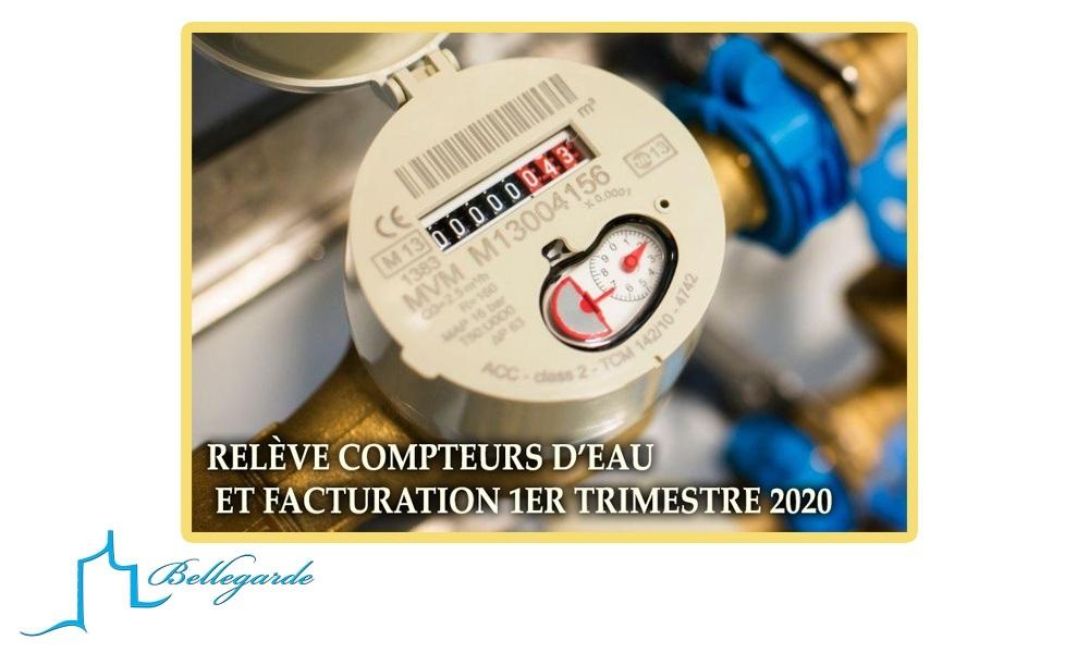 Facturation consommation eau potable 1er semestre 2020