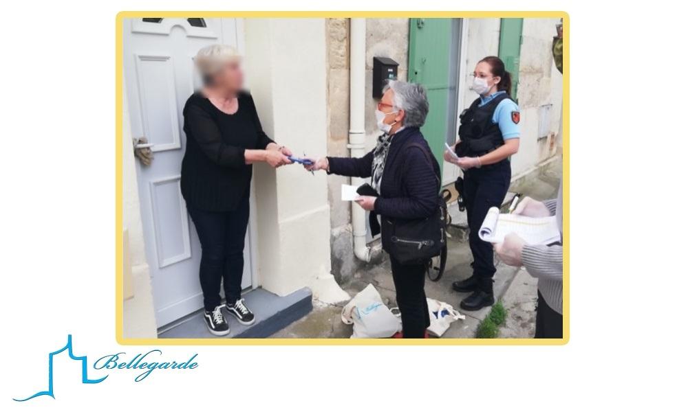COVID 19: distribution de masques offerts par la ville